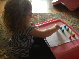 Kara graphing with teddy bear counters