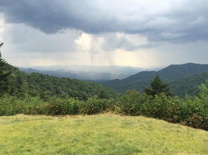 Distant rain on the Smokies
